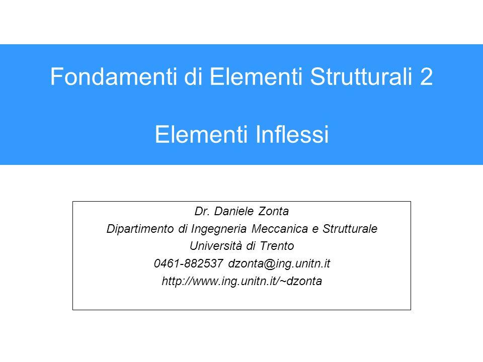 Fondamenti di Elementi Strutturali 2 Elementi Inflessi
