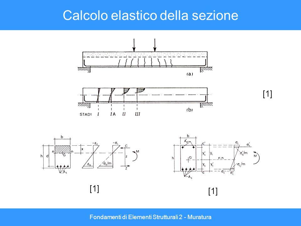 Calcolo elastico della sezione