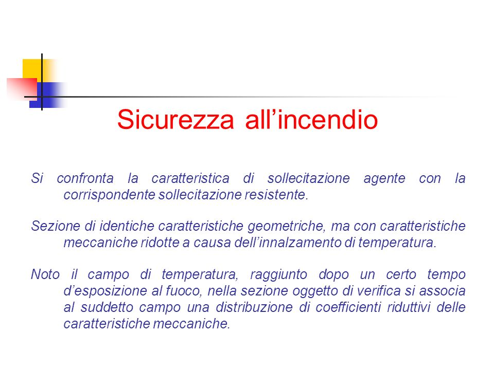 Sicurezza all'incendio