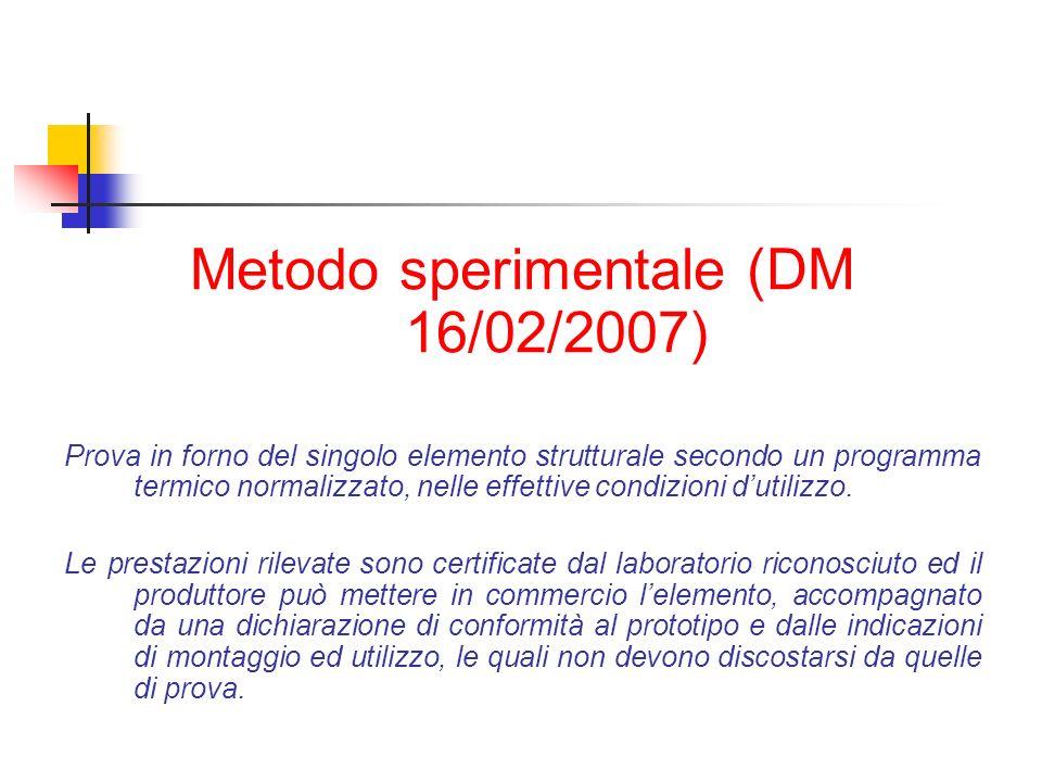 Metodo sperimentale (DM 16/02/2007)
