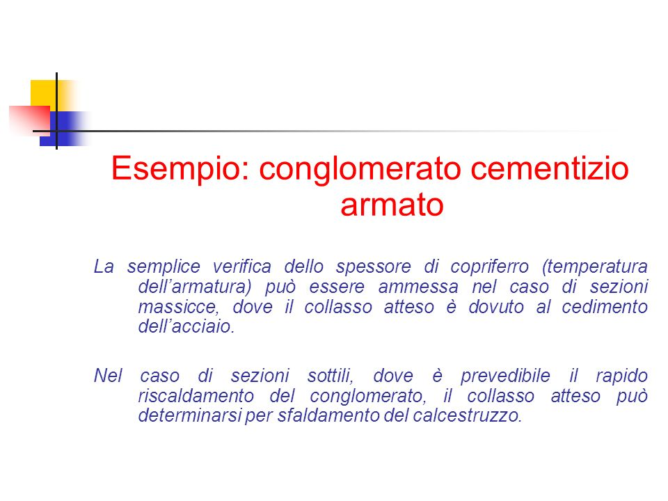 Esempio: conglomerato cementizio armato