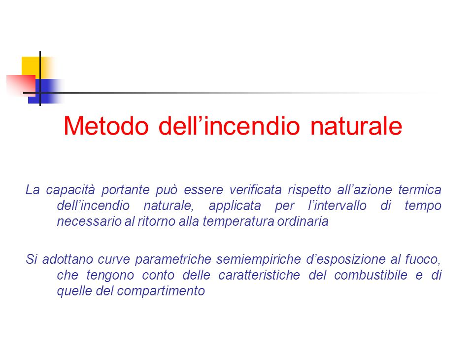 Metodo dell'incendio naturale