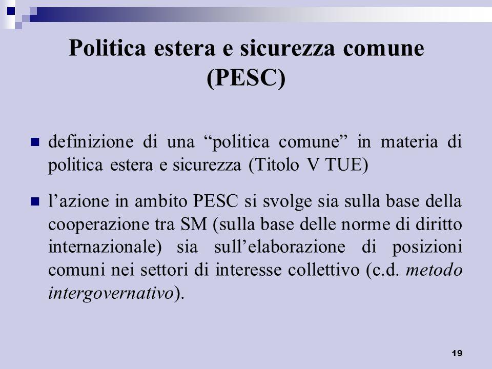 Politica estera e sicurezza comune (PESC)