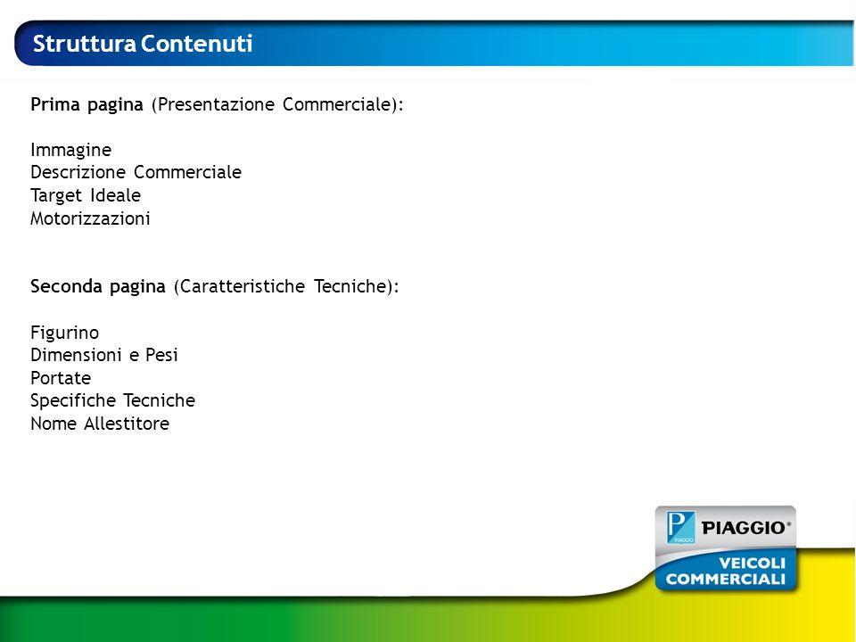 Struttura Contenuti Prima pagina (Presentazione Commerciale): Immagine