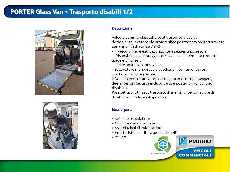 PORTER Glass Van – Trasporto disabili 1/2