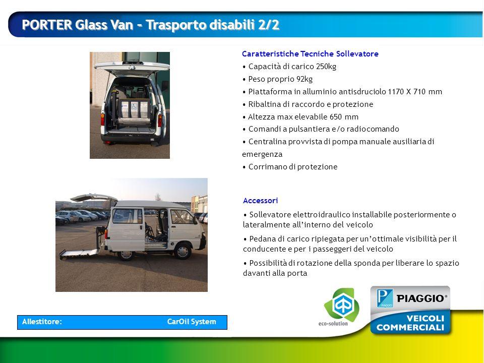 PORTER Glass Van – Trasporto disabili 2/2