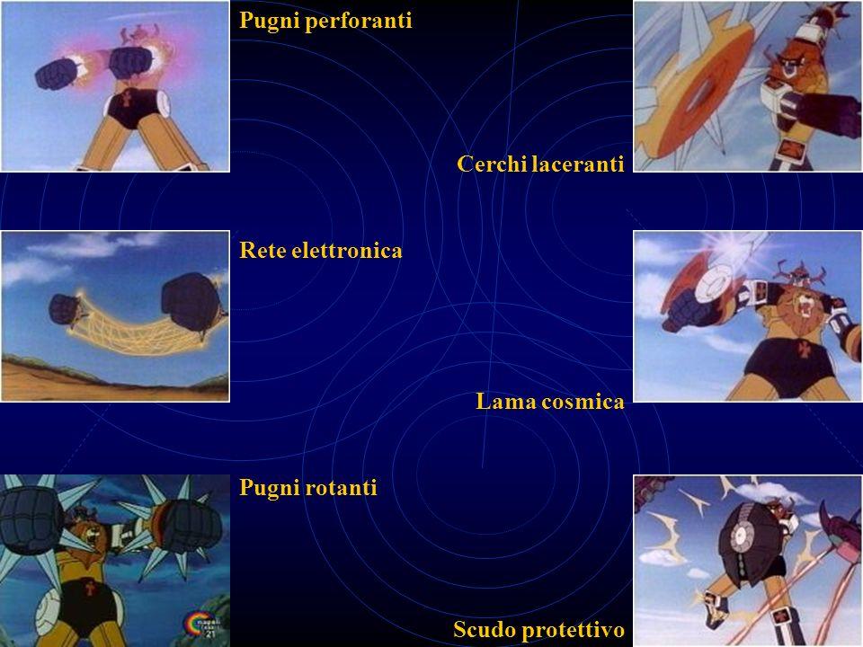 Pugni perforanti Cerchi laceranti Rete elettronica Lama cosmica Pugni rotanti Scudo protettivo
