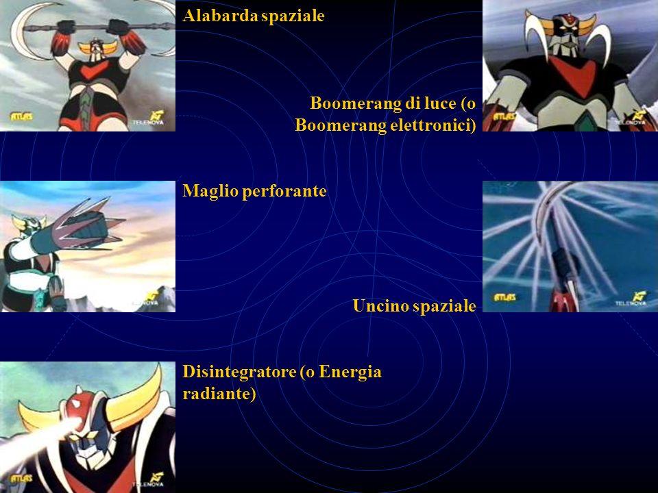 Alabarda spaziale Boomerang di luce (o Boomerang elettronici) Maglio perforante. Uncino spaziale.