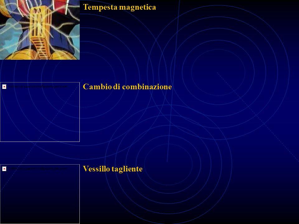 Tempesta magnetica Cambio di combinazione Vessillo tagliente