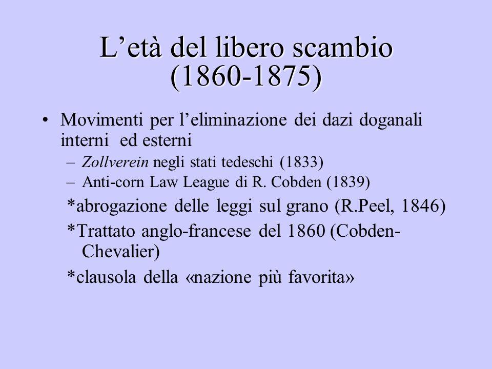 L'età del libero scambio (1860-1875)