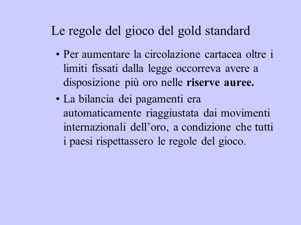 Le regole del gioco del gold standard