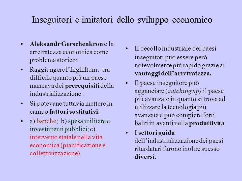 Inseguitori e imitatori dello sviluppo economico