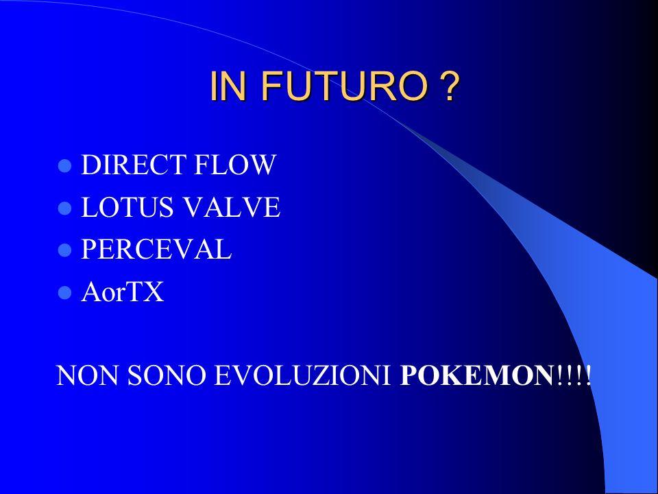 IN FUTURO DIRECT FLOW LOTUS VALVE PERCEVAL AorTX