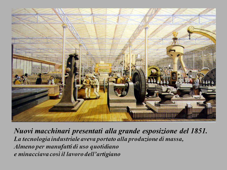 Nuovi macchinari presentati alla grande esposizione del 1851.