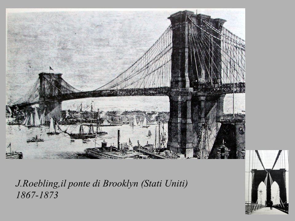 J.Roebling,il ponte di Brooklyn (Stati Uniti)