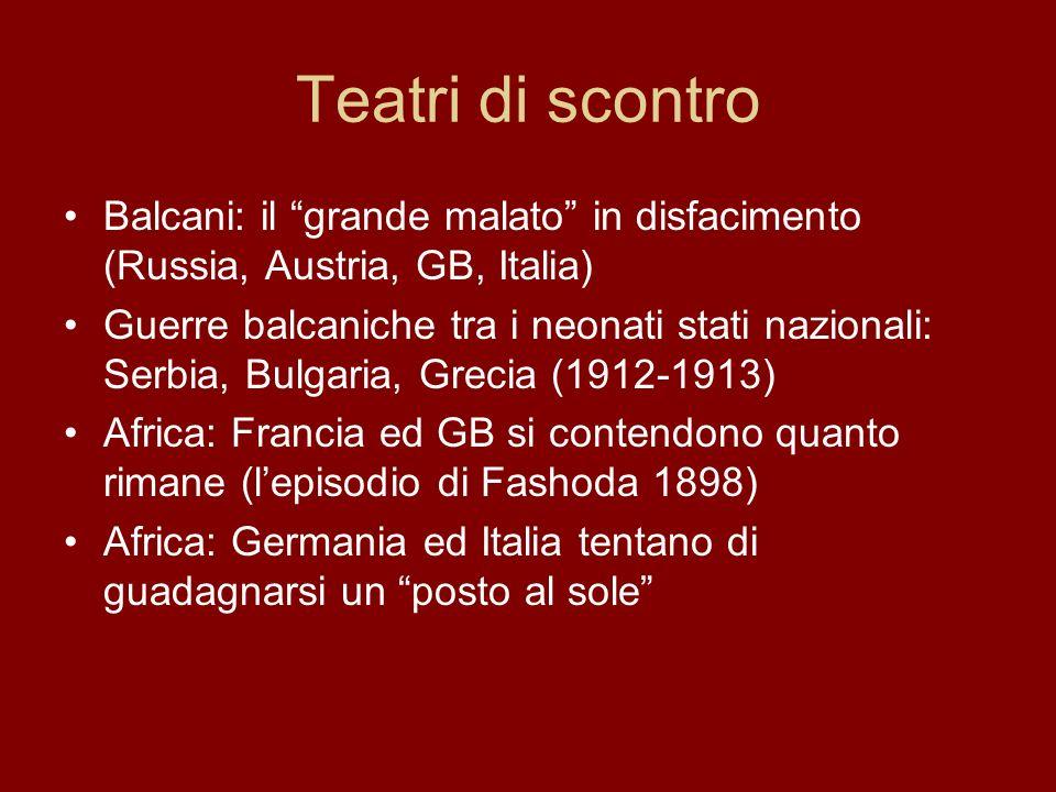 Teatri di scontro Balcani: il grande malato in disfacimento (Russia, Austria, GB, Italia)