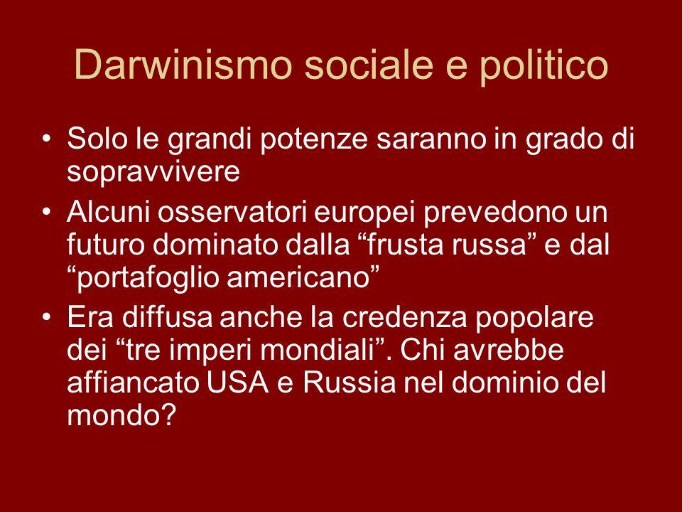 Darwinismo sociale e politico