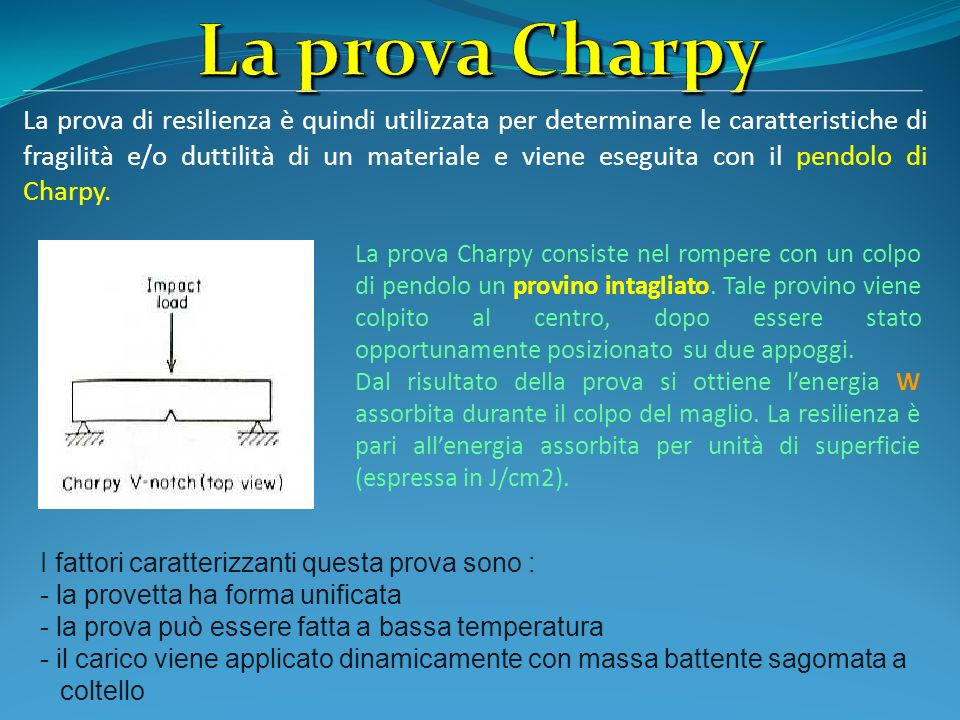 La prova Charpy