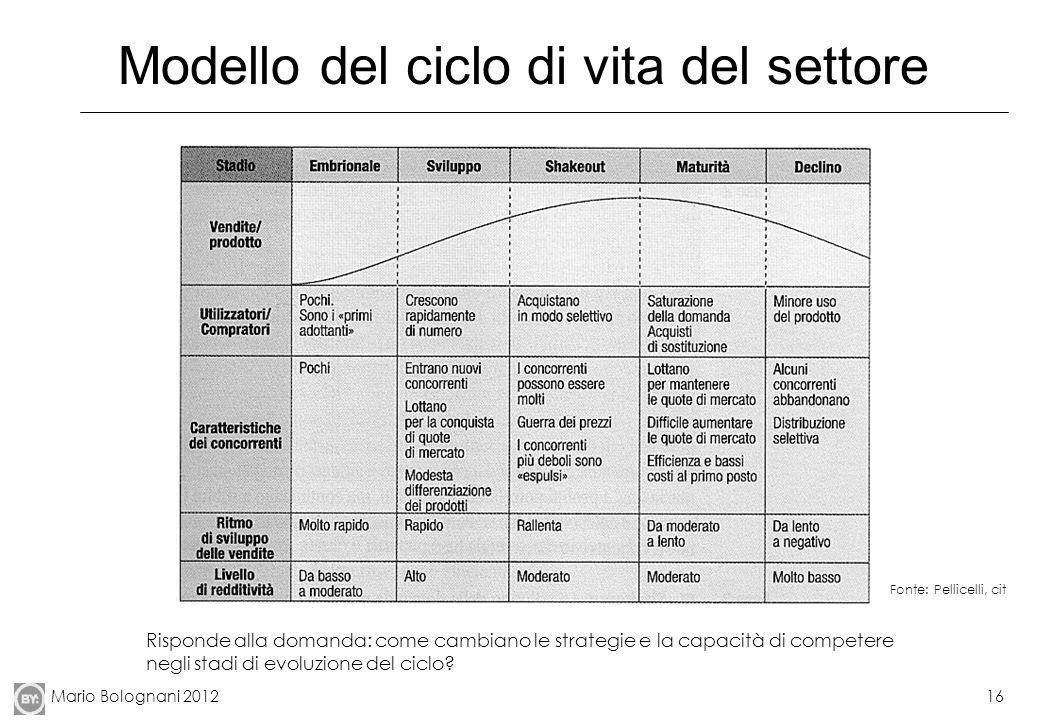 Modello del ciclo di vita del settore