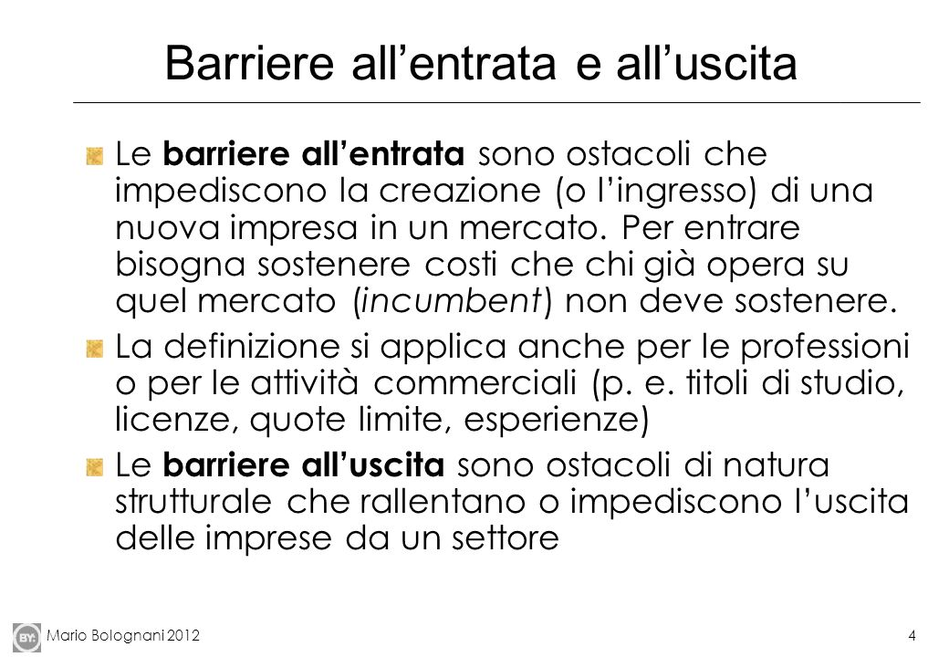 Barriere all'entrata e all'uscita