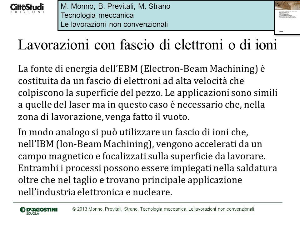 Lavorazioni con fascio di elettroni o di ioni