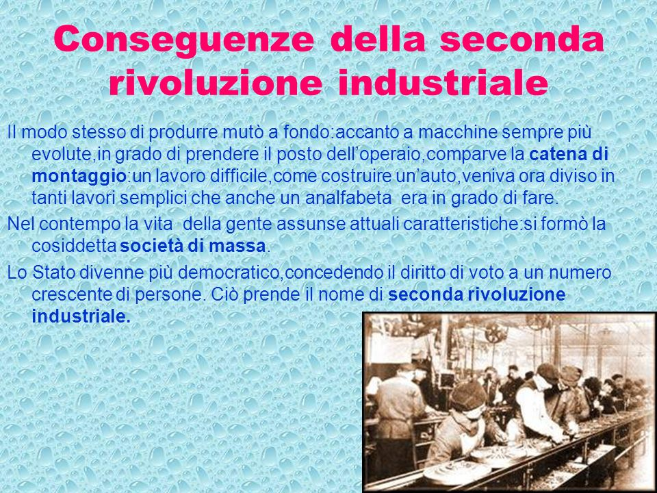 Conseguenze della seconda rivoluzione industriale