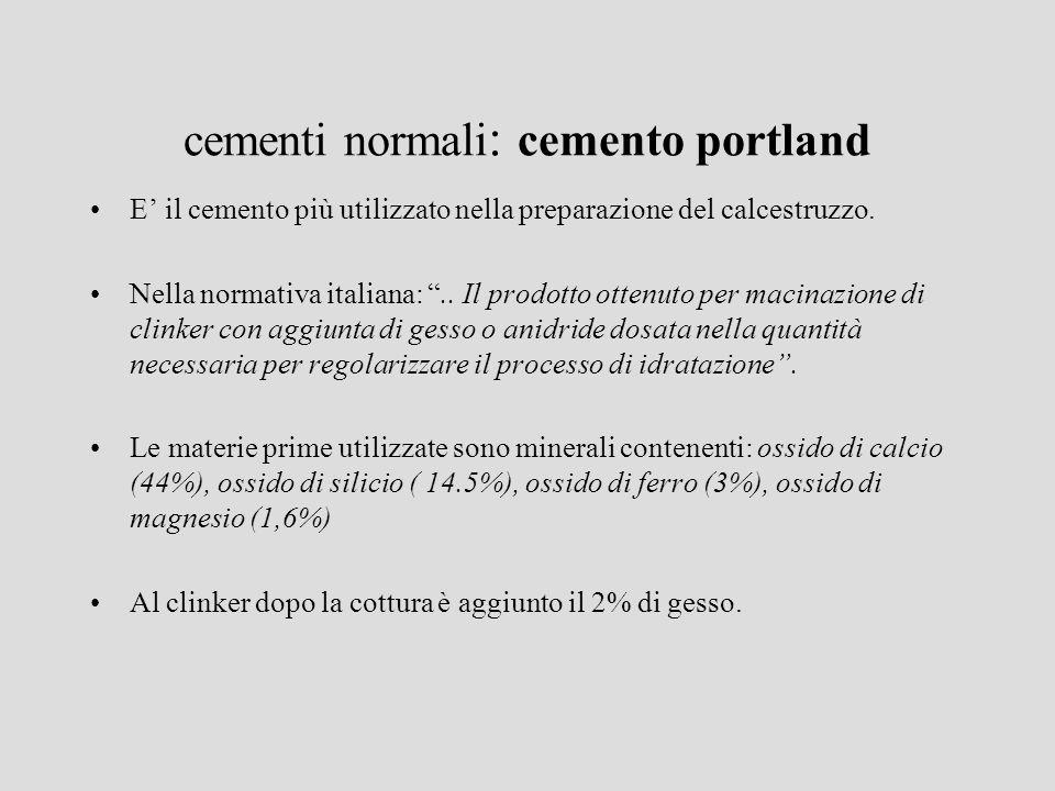 cementi normali: cemento portland