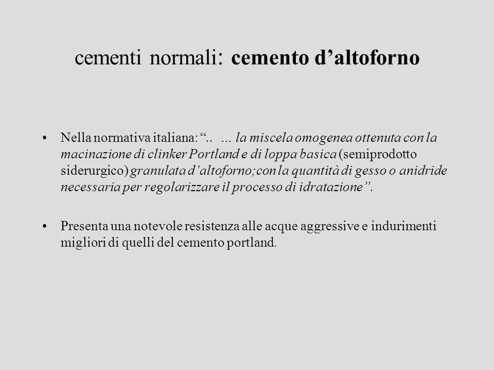 cementi normali: cemento d'altoforno