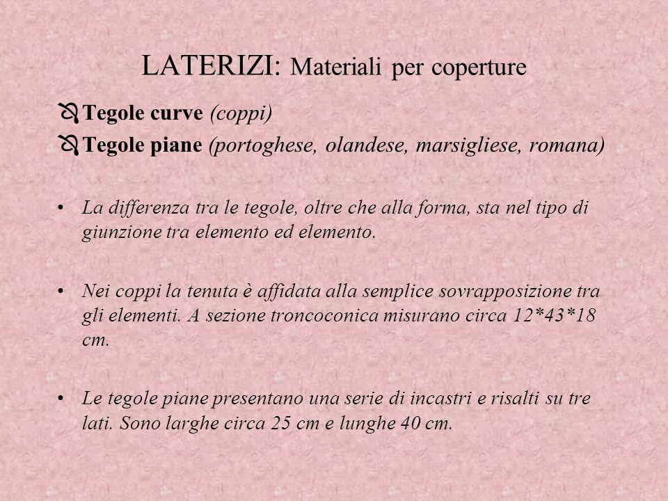 LATERIZI: Materiali per coperture