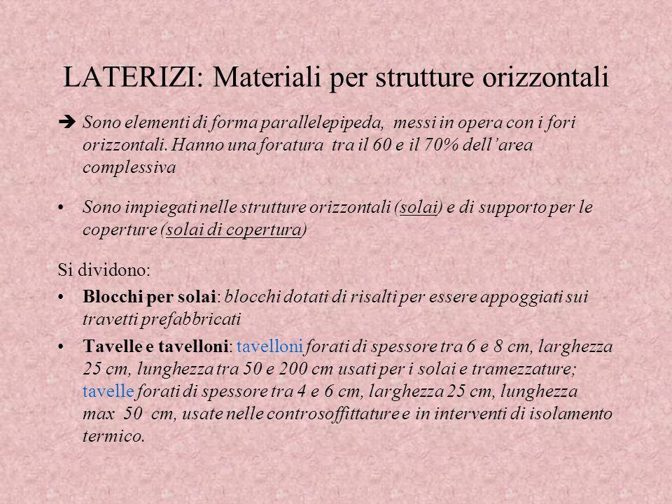 LATERIZI: Materiali per strutture orizzontali