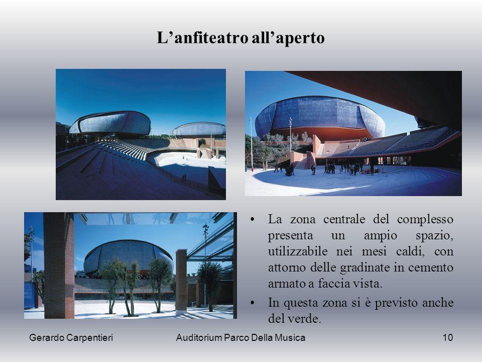 L'anfiteatro all'aperto