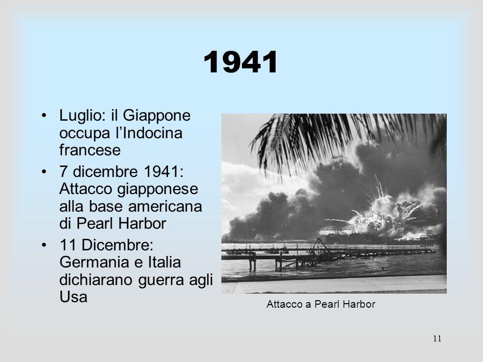 1941 Luglio: il Giappone occupa l'Indocina francese