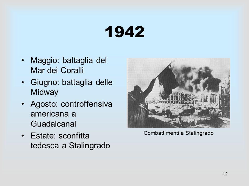 1942 Maggio: battaglia del Mar dei Coralli