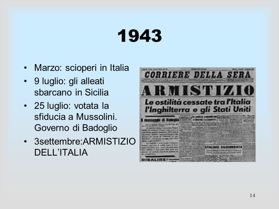 1943 Marzo: scioperi in Italia