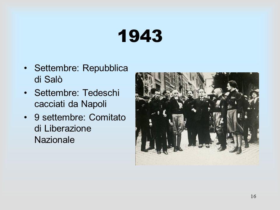 1943 Settembre: Repubblica di Salò