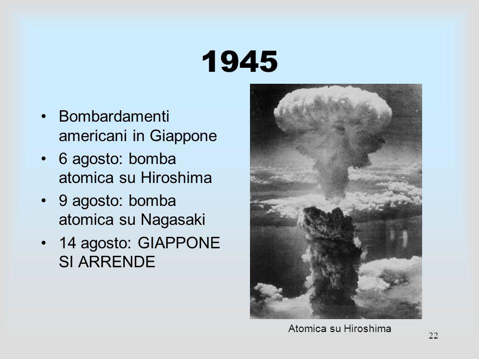1945 Bombardamenti americani in Giappone
