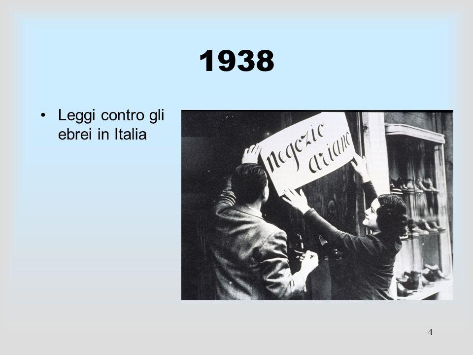 1938 Leggi contro gli ebrei in Italia