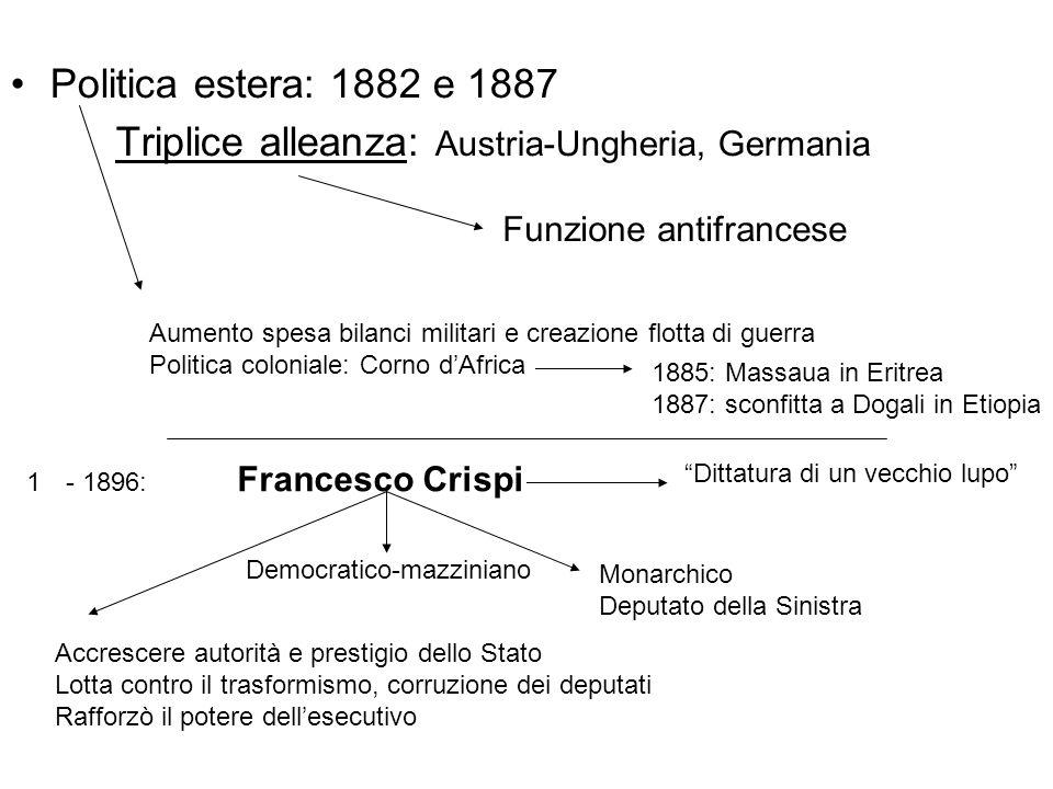 Triplice alleanza: Austria-Ungheria, Germania
