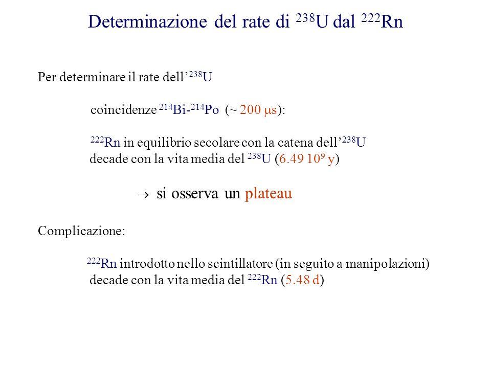 Determinazione del rate di 238U dal 222Rn
