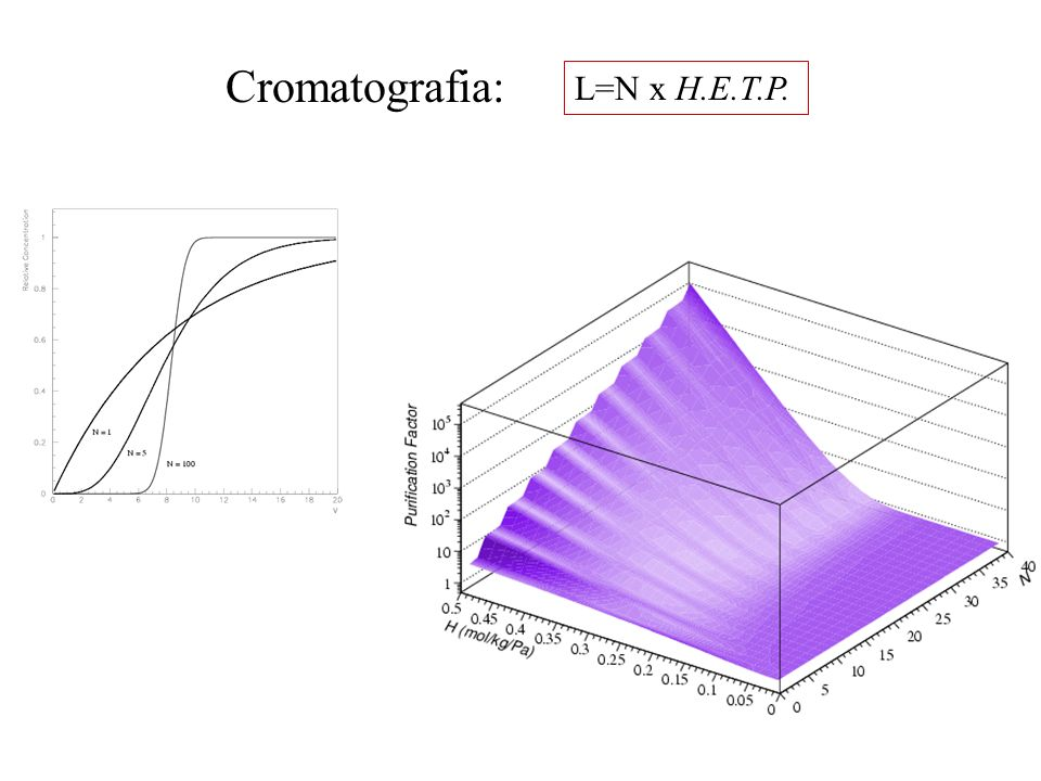 Cromatografia: L=N x H.E.T.P.