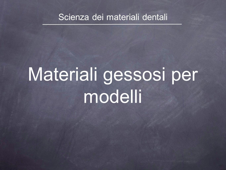 Materiali gessosi per modelli