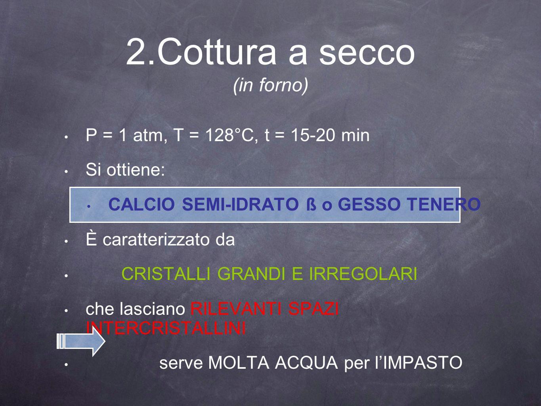 2.Cottura a secco (in forno)