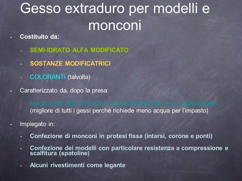 Gesso extraduro per modelli e monconi