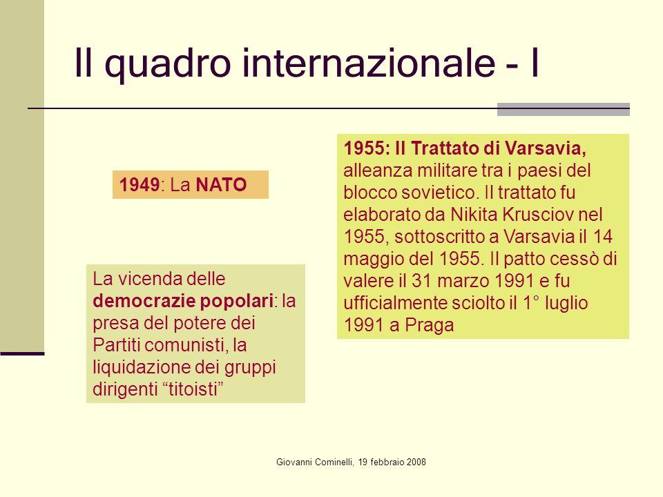 Il quadro internazionale - I