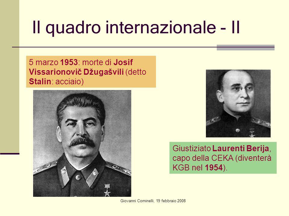Il quadro internazionale - II