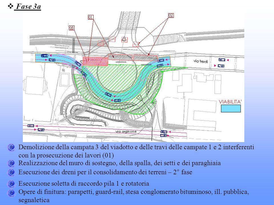Fase 3a Demolizione della campata 3 del viadotto e delle travi delle campate 1 e 2 interferenti con la prosecuzione dei lavori (01)