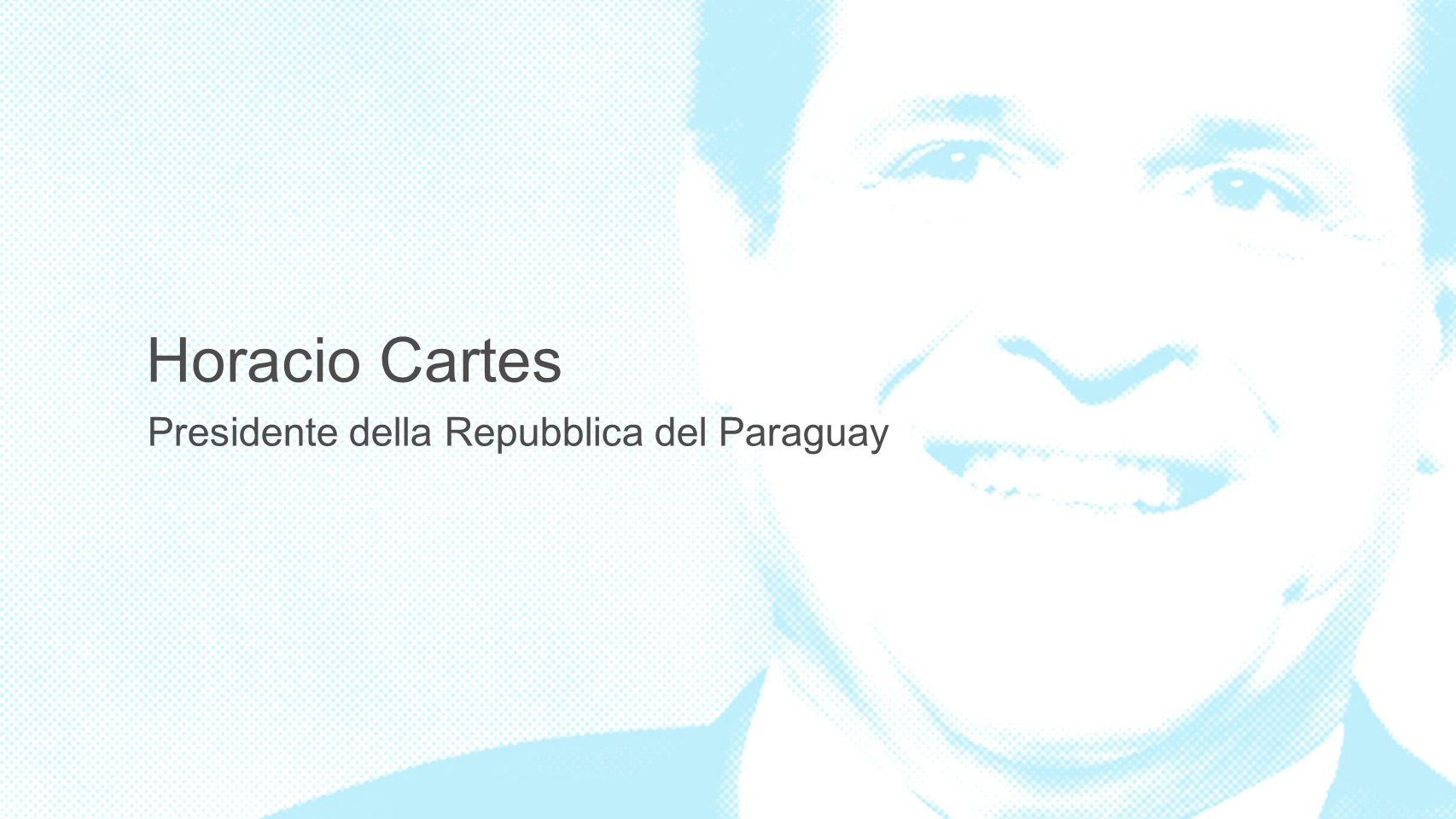 3 Horacio Cartes Presidente della Repubblica del Paraguay 3 3