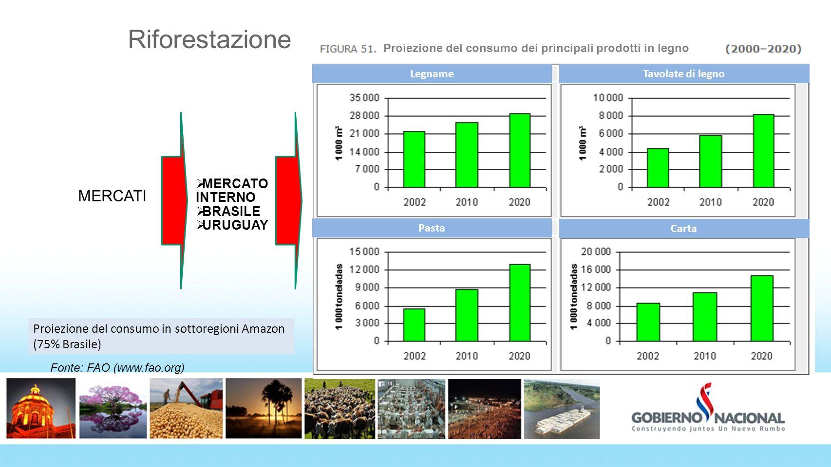 Riforestazione MERCATI MERCATO INTERNO BRASILE URUGUAY