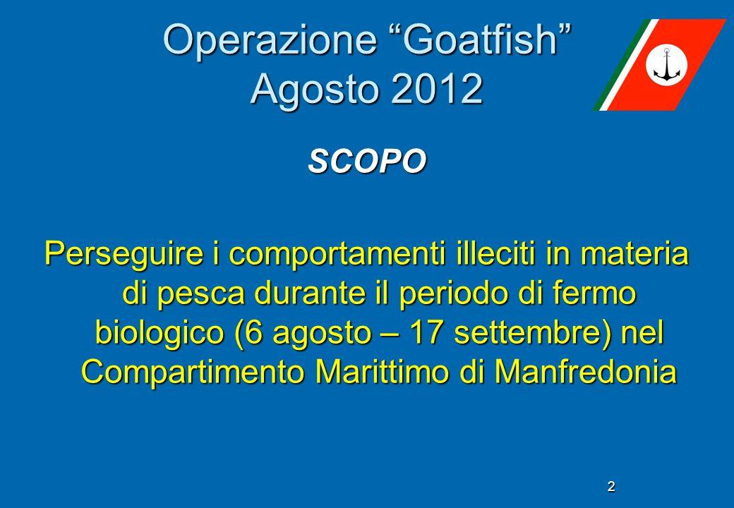 Operazione Goatfish Agosto 2012