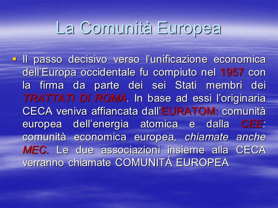 La Comunità Europea